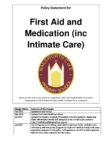 First Aid and Medicaton (inc Intimate Care) Jan2020 FINAL