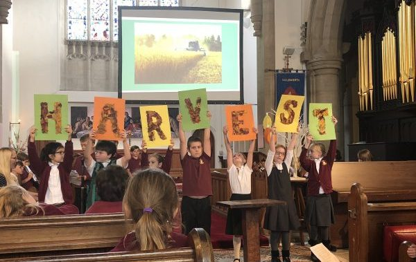 Harvest Service led by the children