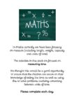 Maths booklet