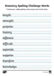 Spellings to test 27th March