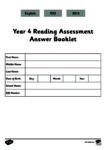Year 4 Reading Assessment Answer Booklet