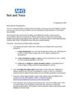 Public Health England letter to parents and carers 23.09.20